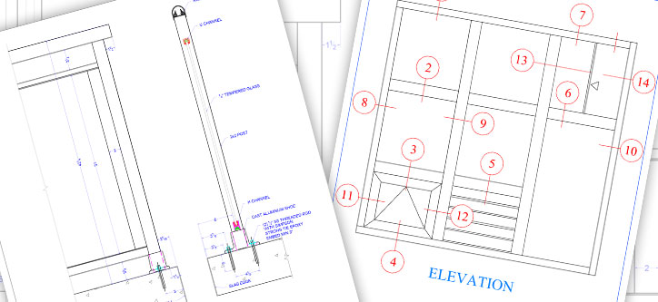 Detailed Drawings of Norstar Windows and Doors